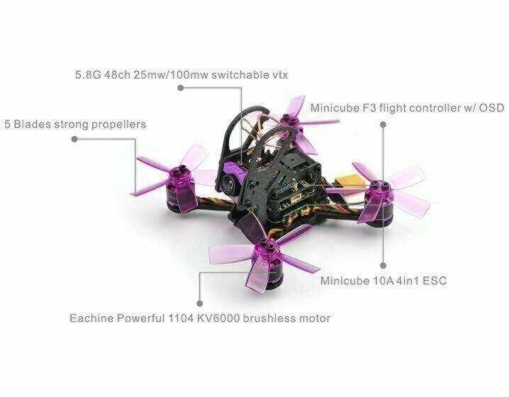 Eachine Lizard 95 - 95mm Brushless FPV Racer - BNF